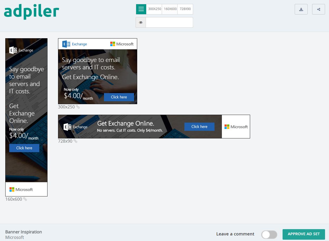 Microsoft banner ads