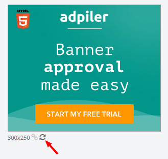 Reload the banner ad